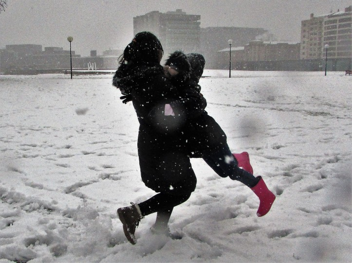 Nieve en Pamplona 2