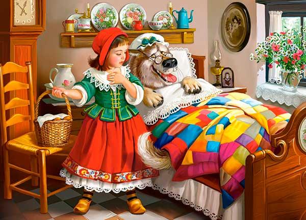Caperucita Roja y el lobo Puzzle
